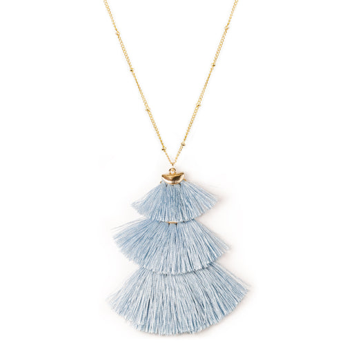 Bohemian Lightweight Layered Tassel Pendant Long Necklace