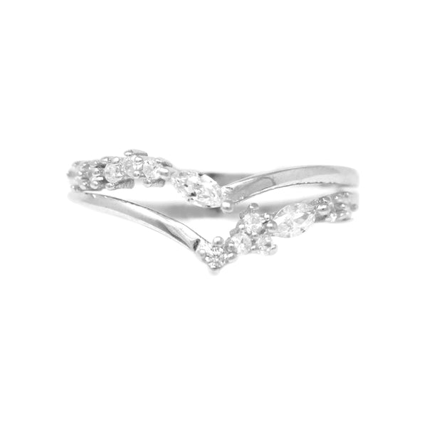 223ed3167 Sterling Silver Cubic Zirconia Double Layered Ring – USJewelryhouse
