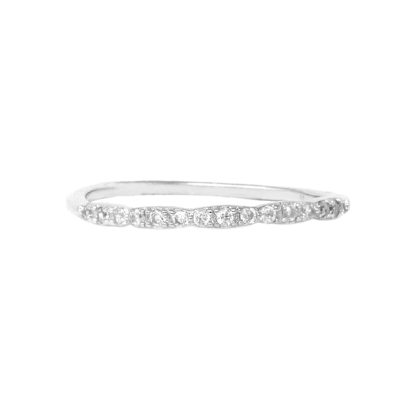 06bfb25c1 Sterling Silver Cubic Zirconia Band Ring – USJewelryhouse
