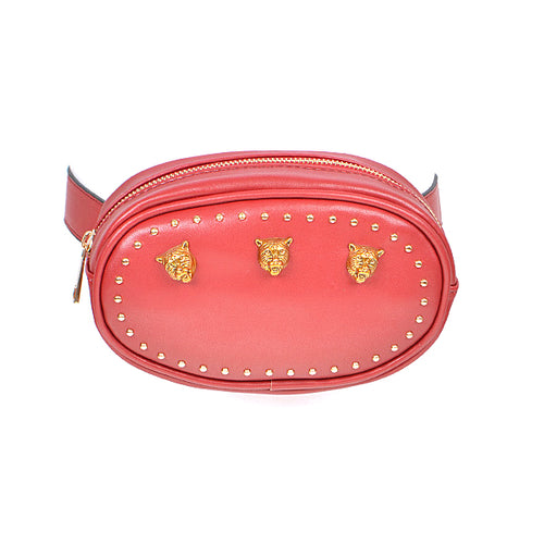 Tiger Embellished Studded Fanny Pack