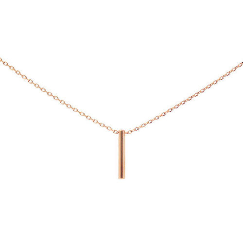 Simple Bar Charm Collar Chain Necklace
