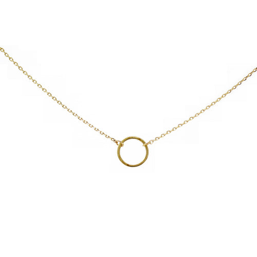 Mini Hoop Charm Collar Chain Necklace