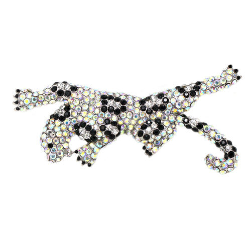 Pave Jaguar Glass Brooch