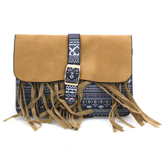 Fringe Bohemian Looking Small Clutch