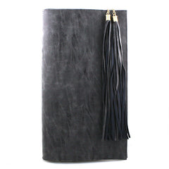 Tassel Charm Leather Clutch