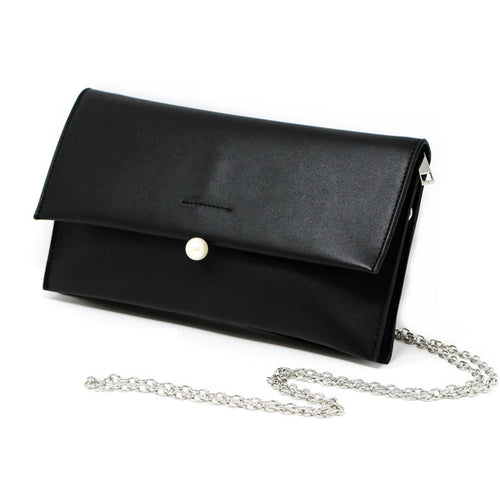 Single Pearl Knob Clutch Bag