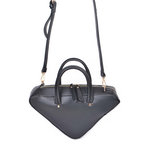 Modern Vegan Leather Triangle Handle Bag