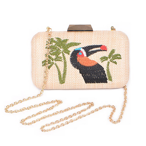 Tropical Cockatoo Paper Clutch Bag