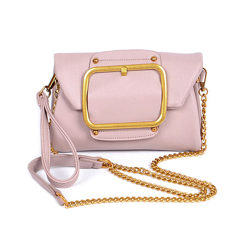 Metal Buckle Trimmed Clutch Bag