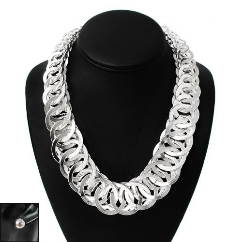 Urban Bulky Metal Link Short Necklace