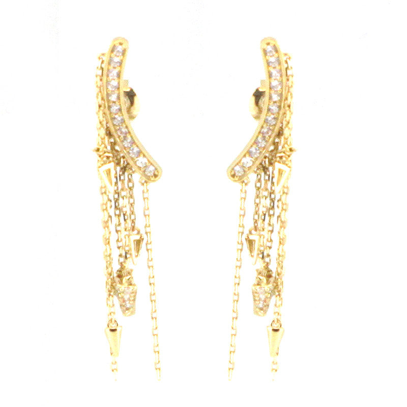 925 Sterling Silver Chandelier Fringe Earrings