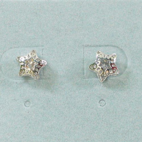 925 Sterling Silver Star Studs Earrings