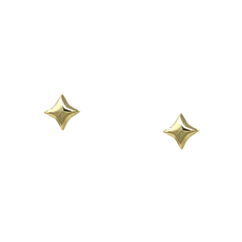 925 Sterling Silver Cushion Stud Earrings