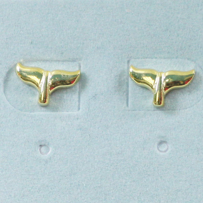 925 Sterling Silver Whale Fin Studs Earrings