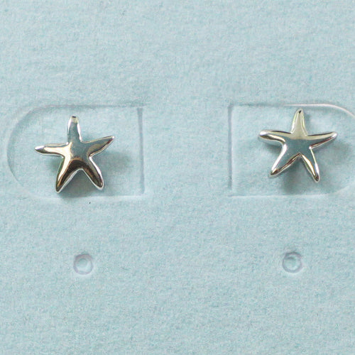 925 Sterling Silver Starfish Studs Earrings
