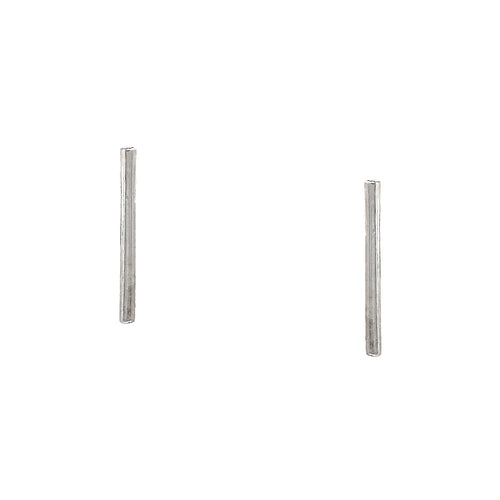 925 Sterling Silver Bar Stud Earrings