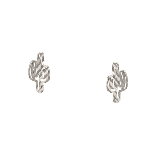 925 Sterling Silver Cactus Stud Earrings