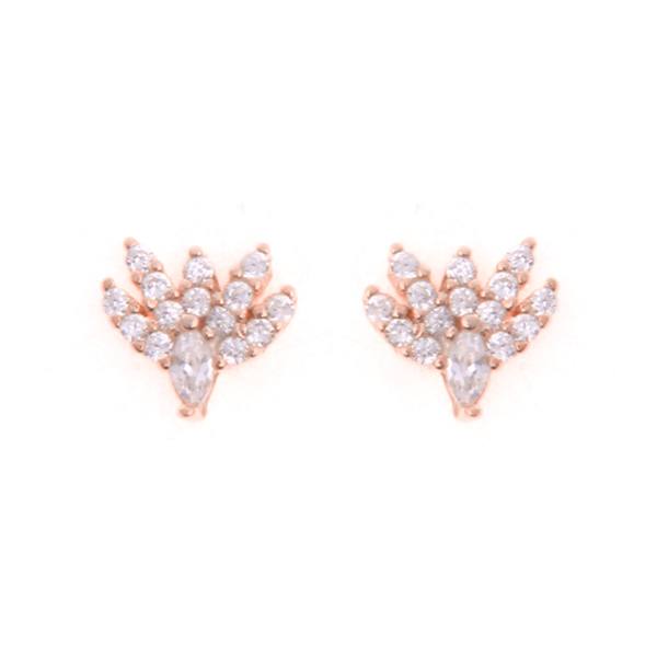 Stering Silver Cubic Zirconia Stud Earrings