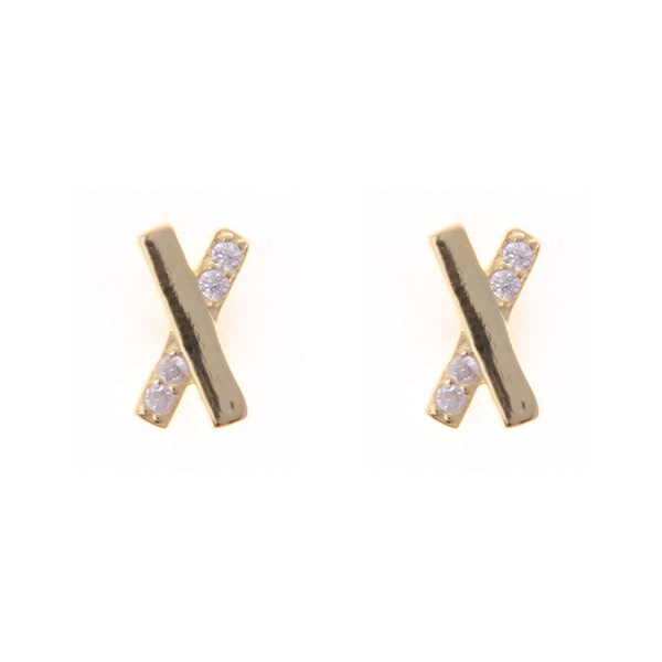 Stering Silver Cubic Zirconia Studs Earrings