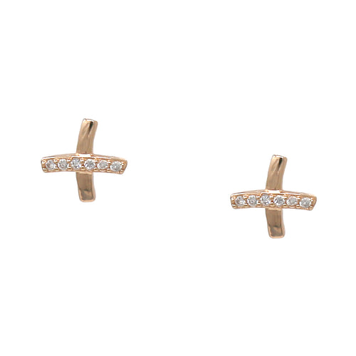 925 Sterling Silver Cubic Zirconia Paved Stud Earrings