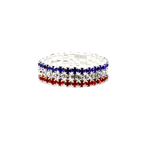 American Flag Colors Stretch Ring