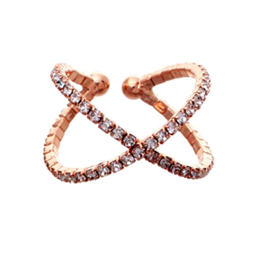 X Shape Rhinestone Ring