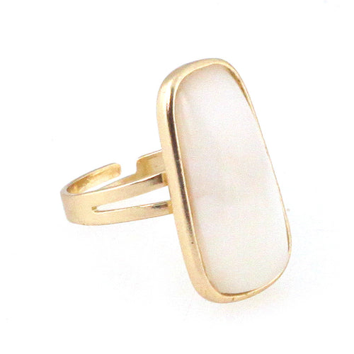 Smooth Pebble Open Ring