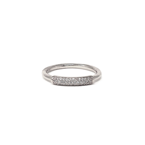 Cubic Zirconia Pave Front Band Ring