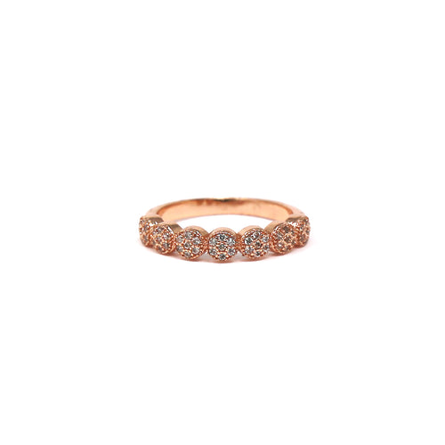 Cubic Zirconia Pave Scalloped Ring