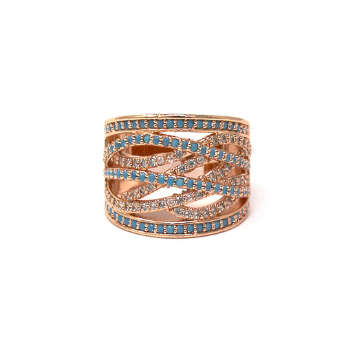 Cubic Zirconia Pave Cocktail Ring