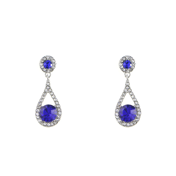 Glass Stone Statement Studs Earrings