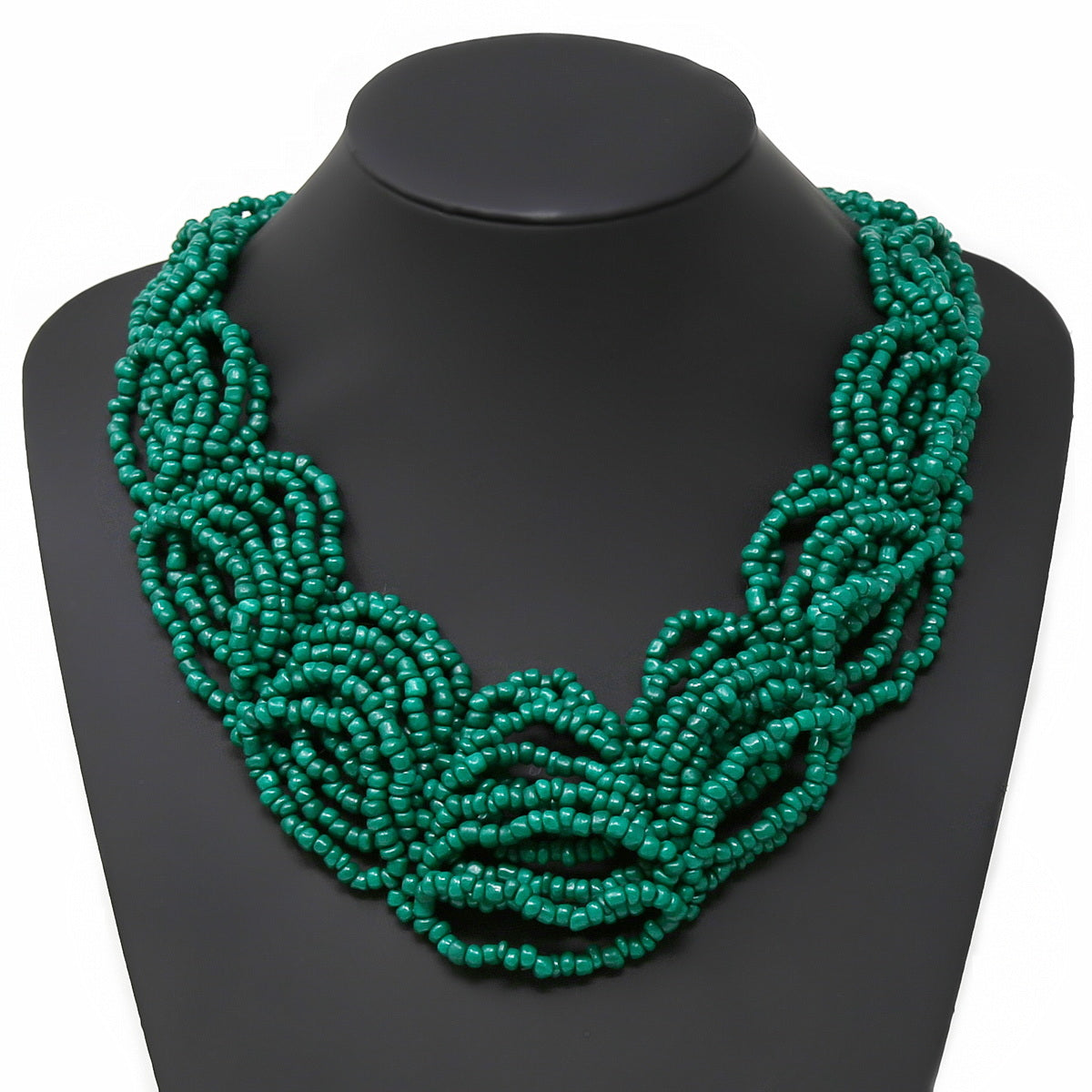 Seed Beaded Layered Short Collar Necklace