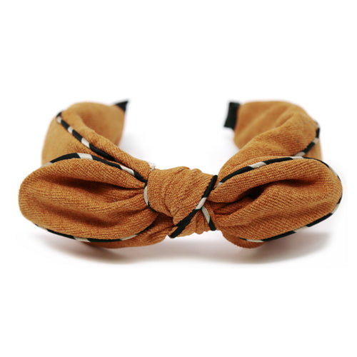 Front Bow Silk Trimmed Headband