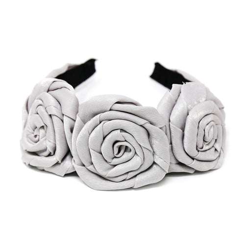 Triple Rose Detail Fabric Headband