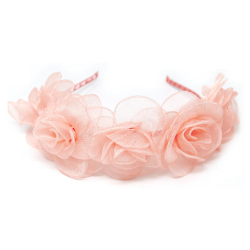 Mesh Rose Detail Headband