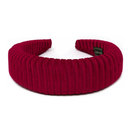 Ribbed Velvet Padded Headband