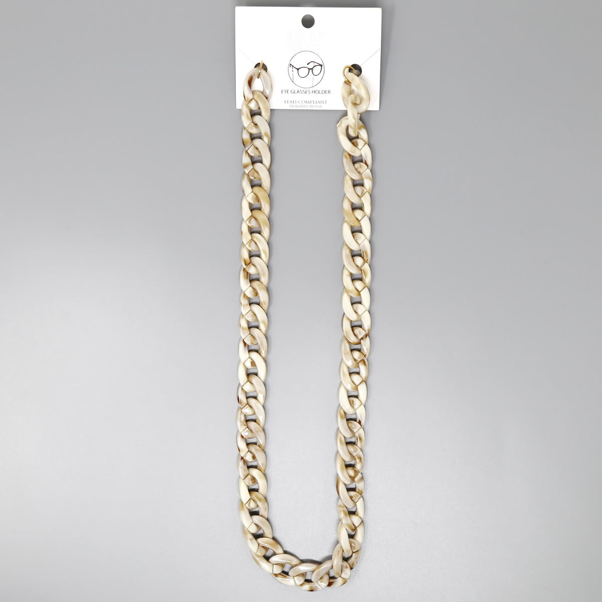 Acetate Flattened Linked Chain Glasses Holder
