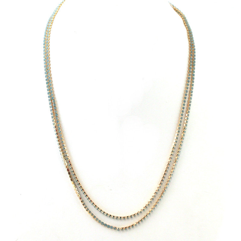 Multi Functional Wrappable Rhinestone 36 inch Necklace