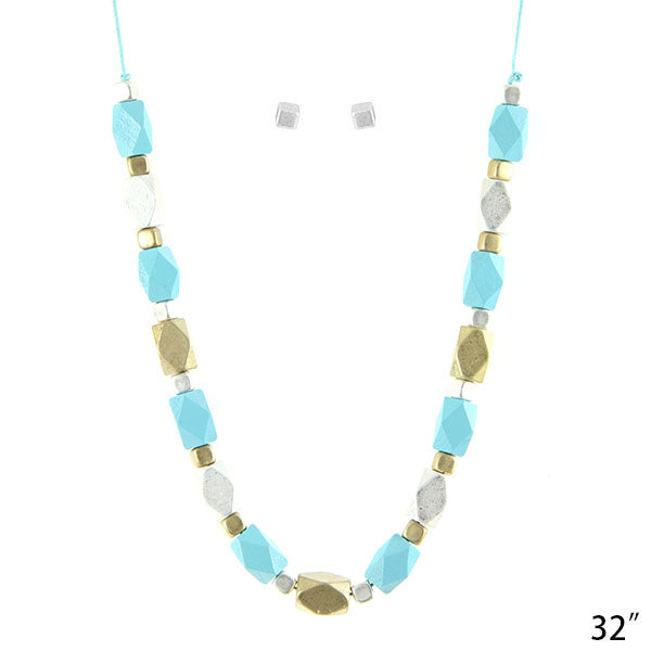 Faceted Beads Pastel Necklace