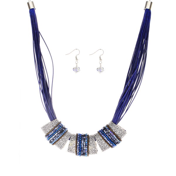 Multi Strands with Multi Charm Necklace