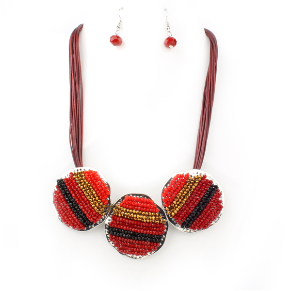 Triple Stations Seed Beads Hippie Necklace