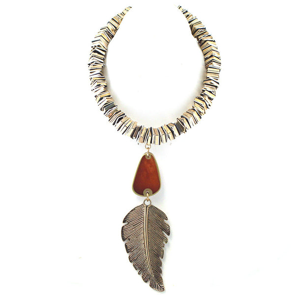 Leaf Pendant Bohemian Necklace