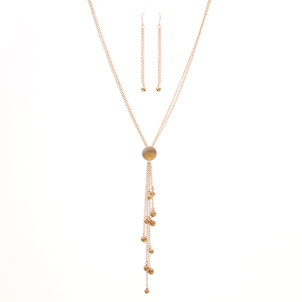 Geometric Trend Metal Long Necklace