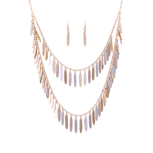 Lightweight Fringe Statement Necklace