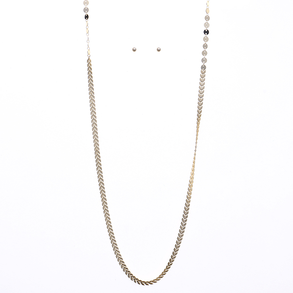 Urban Metal Chain Statement Necklace