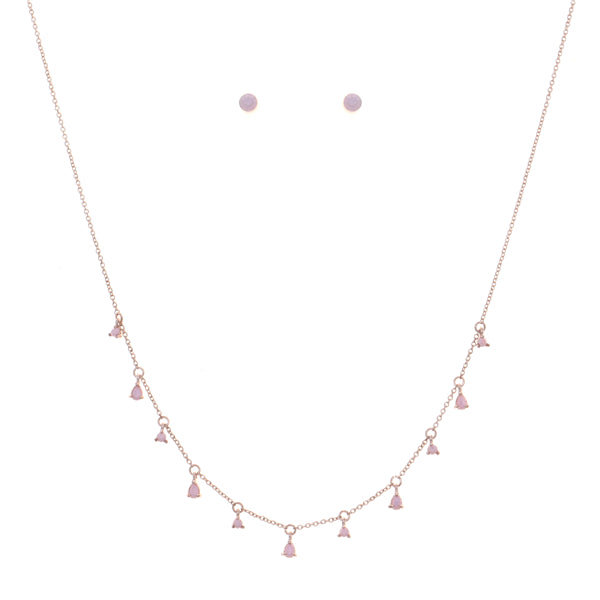 Mini Teardrop Charm Delicate Short Necklace