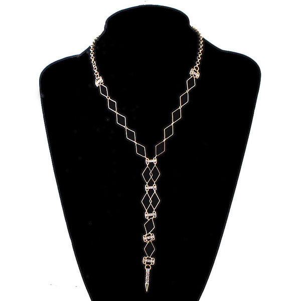 Geometric Unique Y Chain with Spike Necklace