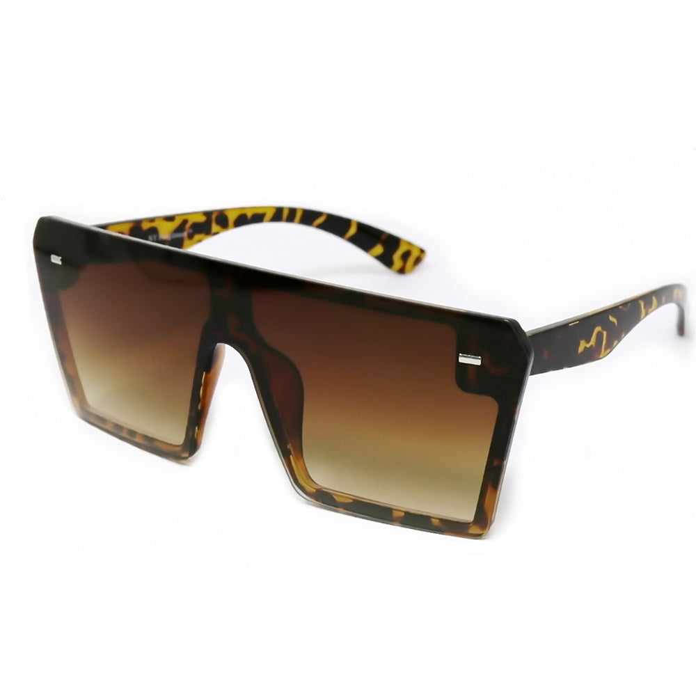 Gradient Shield Fashion Sunglasses