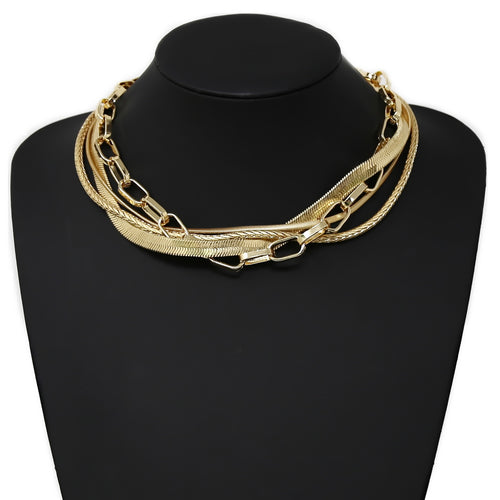 Twisted Chain Short Collar Necklace