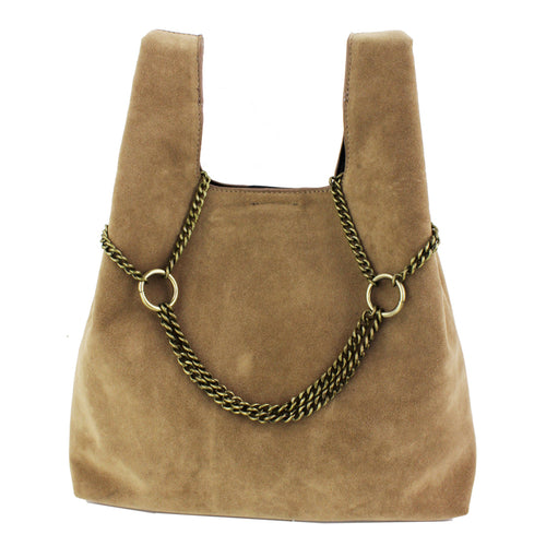 STREET LEVEL Burnished Chain Drop Mini Tote Bag